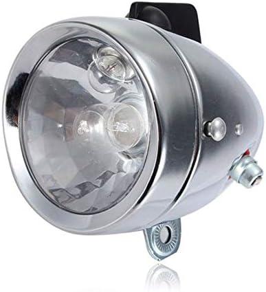 junfeng Lumière de vélo Vélo Motorisé Vélo Friction Générateur Phare Feu Arrière Kit Tête Lampe Friction Dynamo Lumière Costume