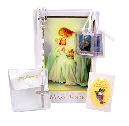 My First Communion Boxed Gift Set for Girls with Traditional Memories Mass -