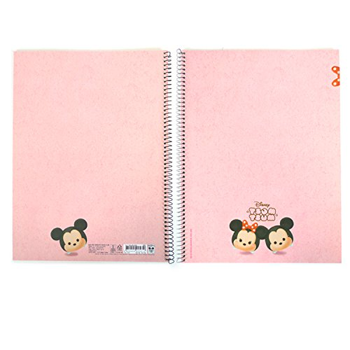 Disney Tsum Tsum Simple College Ruled A4 Spiral Notebook (Pink)