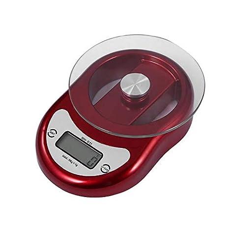 Básculas digitales de cocina 5kgx1g vidrio templado cocina ...