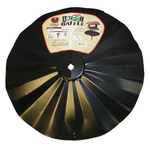 (Erva SB6 Pole Mount Disk Baffle, Black, 22.5-Inch)