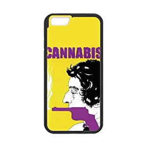 Alta resolución Cannabis cartel iPhone 6 Plus 5.5 pulgadas del teléfono celular funda Negro caja del teléfono celular Funda Cubierta EEECBCAAH79155