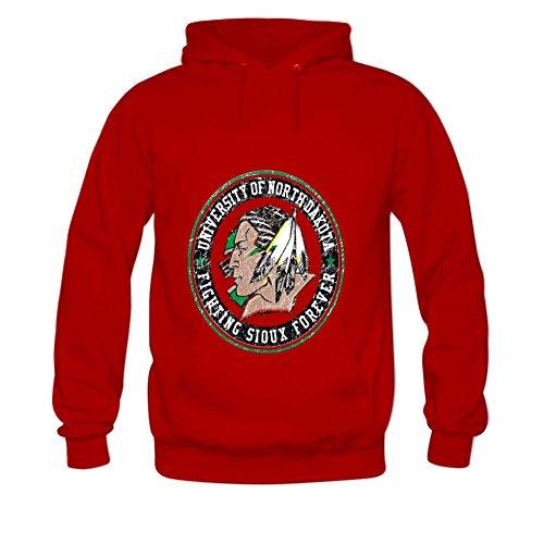 Women's Sweatshirt Fighting Sioux Forever Hoodies XXL Red