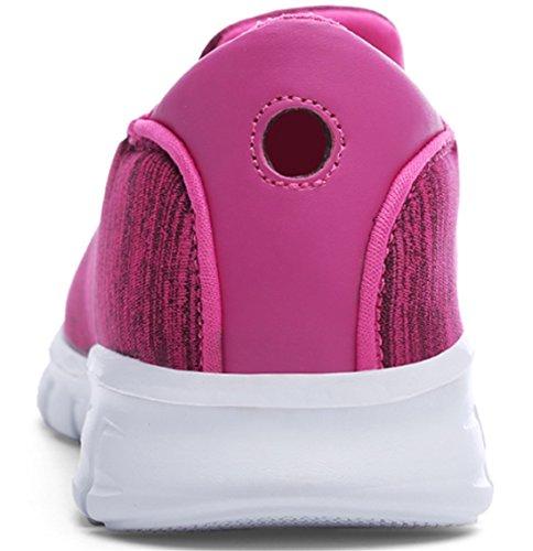 Ppxid Damesschoenen Met Ademende Mesh Op Loafer Met Sneaker Casual Schoen Rood