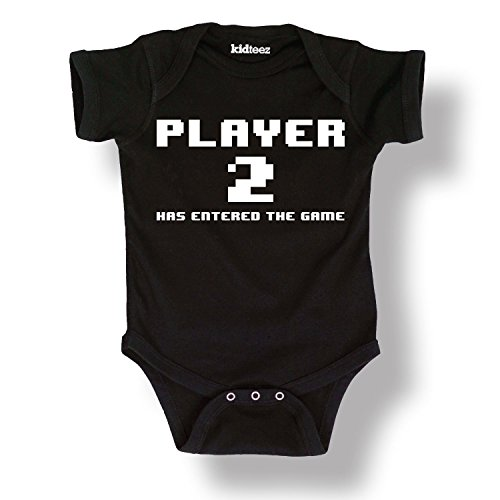 Price comparison product image Player 2 Has Entered The Game Cute Baby - Baby One Piece - Black - Newborn