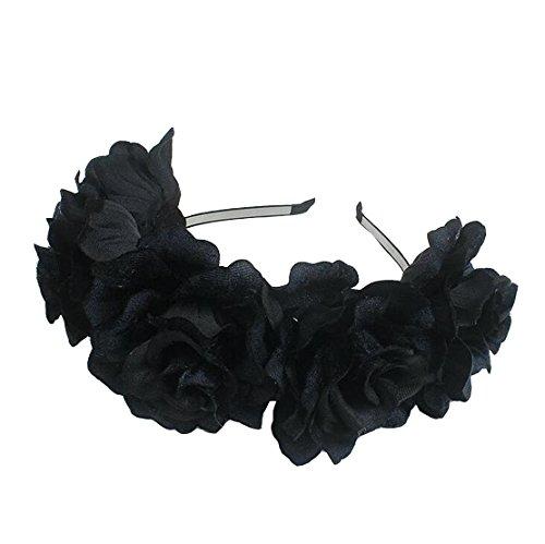 Daisyu Women Floral Head Wreath Flower Crown Headband Bridal Flower Crown Wedding -
