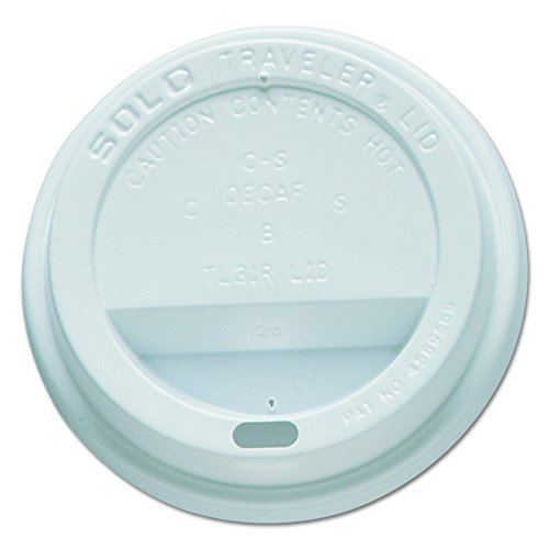 Solo TL31R2-0007 White Traveler Plastic Lid - For Solo Paper Hot Cups (Case of 1000)