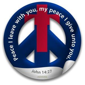 Peace Through Christ MEYOTO Window Cling