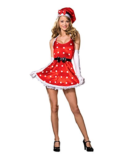 [Holiday Pinup Lg Adult Womens Costume] (Holiday Pin Up Costumes)
