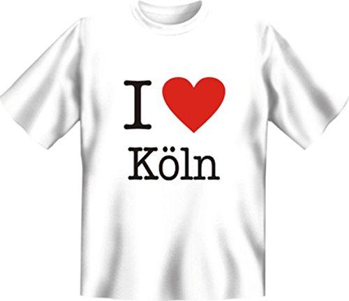 T-Shirt - I love Köln - Lustiges Sprüche Shirt als Geschenk für den Kölner mit Humor