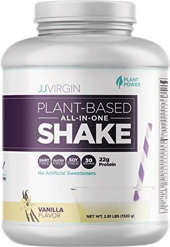 JJ Virgin VANILLA Plant Based All In One Protein Powder Shake (Brand New Packaging), 30 Servings