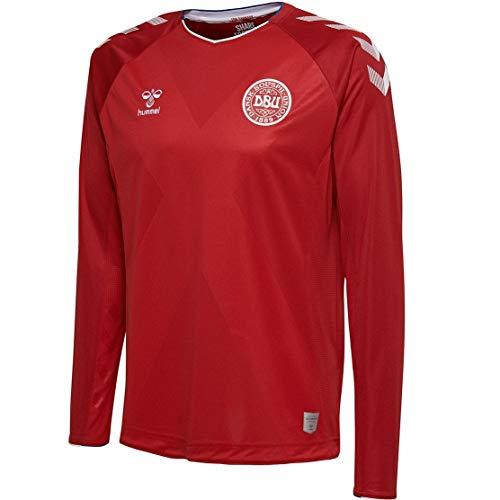 - Hummel Sport Hummel Danish National Soccer Team Long Sleeve Home Jersey, Red, XX - Large