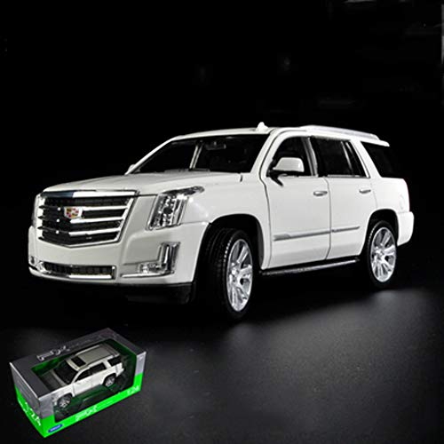 PENGJIE-Model 1:24 Cadillac Escalade Car Model Simulation Cars Collection Gifts Decorations (Color : White)