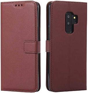 DENDICO Cover Galaxy S9 Plus, Cover in Pelle Flip Custodia a Libro con Porta Carte per Samsung Galaxy S9 Plus [Kickstand] [Funzione Supporto] [Chiusura Magnetica] - Rosa Caldo DDCIT26S9P-0302