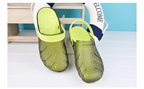Autunno Il pattino dei nuovi uomini calza i pattini casuali Scarpa respirabile della spiaggia Grande testa Scarpa antisdrucciolevole Due scarpe da sandalo, verde, UK = 7.5, EU = 41 1/3