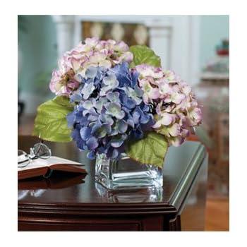 Amazon hydrangea silk flower arrangement lavender blue home hydrangea silk flower arrangement lavender blue mightylinksfo