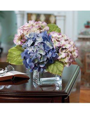 Hydrangea-Silk-Flower-Arrangement-Lavender-Blue
