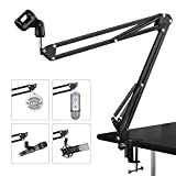 Best Stands With Boom Arms - Adjustable Microphone Suspension Boom Scissor Arm Stand Made Review