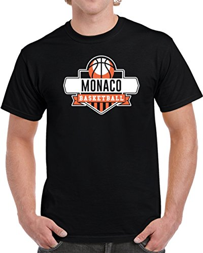 fan products of Monaco Basketball Team Sport State Country Athletics Fan T Shirt L Black