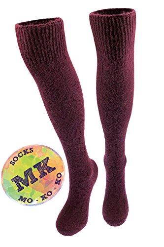 ol Knee High Socks Women, Over the Calf- 6-10 (Violet (Knee High Socks)) (Violet Wool)