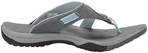 Merrell AZURA FLIP - Sandalias Deportivas de cuero mujer gris - gris