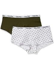 Calvin Klein Women's Multipack Carousel Logo Cotton Boyshort Underwear