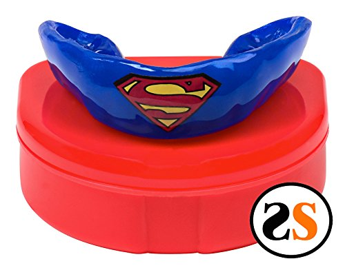 Custom Superman Teeth Mouthguard by SportingSmiles