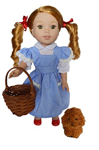 Dorothy Costume Toto Basket (My Brittany's Dorothy Costume with Toto, Basket,and Shoes for Wellie Wisher Dolls and Glitter Girls Dolls)