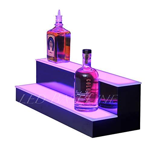 LED Baseline 2 Step Bar Shelf Bottle Glorifier 24