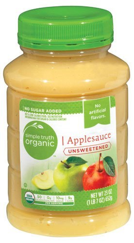 Simple Truth USDA Organic Unsweetened Applesauce 23 Oz. Bottle (Pack of 2) (Applesauce Unsweetened)