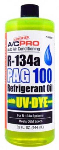 Interdynamics A/C Pro R-134a PAG 100 Refrigerant Oil With UV Dye (32 oz) (1)