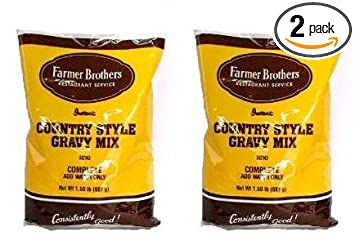 Amazoncom Farmer Brothers Instant Country Gravy Mix 2 Bags 15