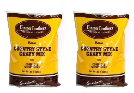 Farmer Brothers Instant Country Gravy Mix (2 bags, 1.5 (Style Gravy Mix)