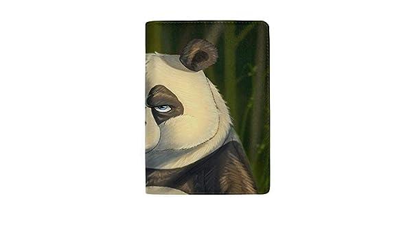 Panda Bear Art Leather Passport Holder Cover Case Travel One Pocket