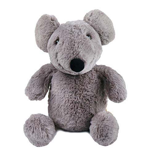 Houwsbaby Mouse Stuffed Animal Rat Plush Toy Playtime FluffyA Gift for Kids Toddlers on Birthday and Other Holidays, Grey, 11.8