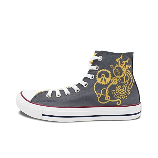 Wen Design Steampunk Hand Painted Shoes High Top Women and Men Canvas Sneakers 3
