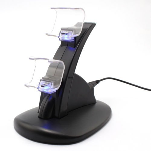Leaderstar para 2 PS4 Game Controller LED Playstation USB Charging Dock Stand