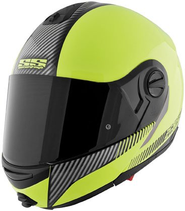 Speed & Strength SS1700 Lock and Load Helmet , Helmet Type: Modular Helmets, Helmet Category: Street, Distinct Name: Lock and Load Hi-Vis Green, Primary Color: Green, Size: 2XL, Gender: Mens/Unisex 876475