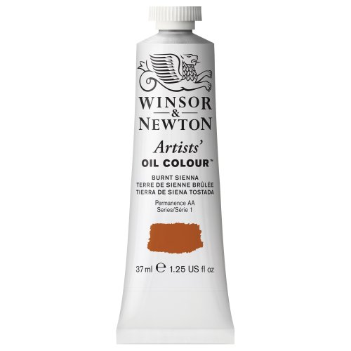 Winsor & Newton Artists' Oil Colour Paint, 37ml Tube, Burnt - Colour 37ml Winton Oil