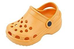 New Toddler\'s Orange Garden Shoes Clog Sandals Size 8