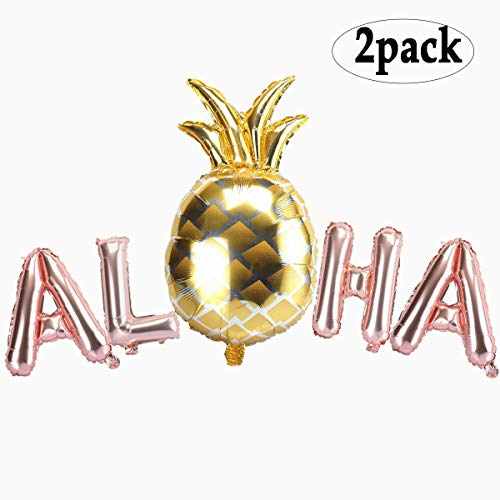 BinaryABC Aloha Balloons,Hawaiian Balloons, for Summer Party, Tropical Party, Hawaii Party, Pool Party, Beach Party 2Pack]()
