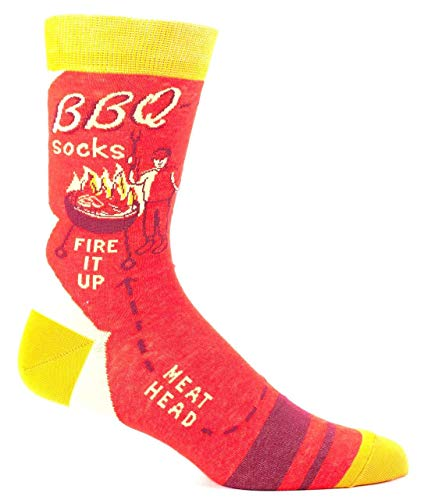Blue Q Men's Socks: BBQ Fire It Up, One Size