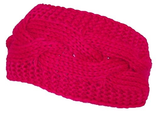 c185c2796 Best Winter Hats Solid Color Cable & Garter Stitch Knit Headband ...