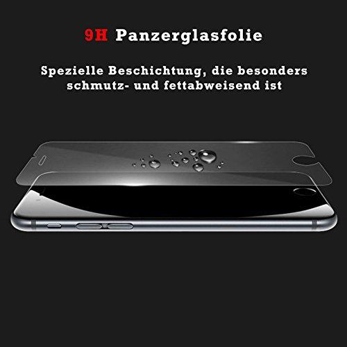 EximMobile Silikon Case + Panzerglasfolie für Apple iPhone 7 | Handytasche mit gutem Schutz | Panzerfolie für besten Displayschutz | Handyhülle mit 9H Panzerglas | Schutzhülle mit Schutzfolie