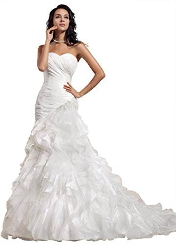 GEORGE BRIDE Taffeta Sweetheart Mermaid Chapel Train Wedding Gowns Size 12 (Dropped Waist Wedding Dress)