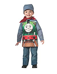 Rubies Costume Thomas and Friends: Deluxe Percy The Small Engine and Engineer Costume, Toddler
