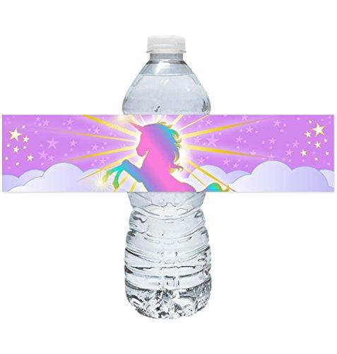 Magical Unicorn Bottle Wraps - 20 Unique Magical Unicorn Water Bottle Labels - party favors decorations