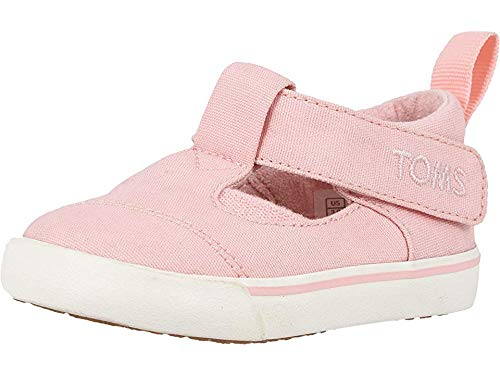 TOMS Kids Baby Girl's Joon (Infant/Toddler) Pink Canvas 6 M US -