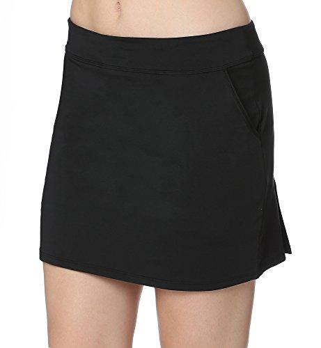 Women's Golf Pleated Flat Skort With Pockets XL,Black-a (Golf Sale Women)