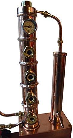"""Dr Richter 2L Destille /""""Gin/"""" High-End Destillieranlage 2 Liter mit Thermometer"""